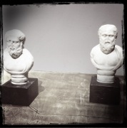 They told us the one on the left was Plato, but I rather think it's Plocrates (h/t to Christopher Rowe)
