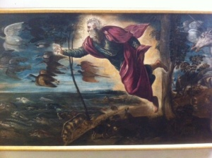 Not quite *that* busy, though...Tintoretto, c. 1550 (Gallerie dell'Accademia, Venice)